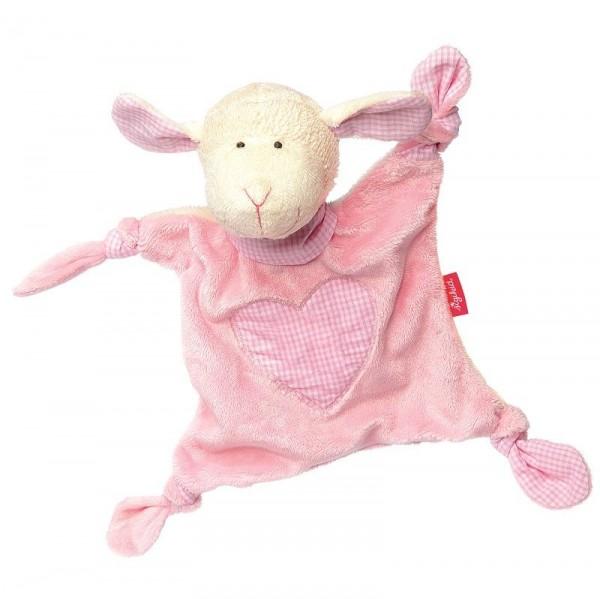 Bio Schmusetuch Schaf rosa