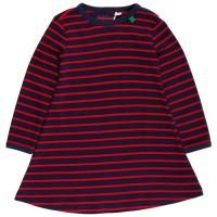 Langarm Kleid gestreift navy rot