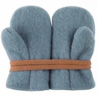 Baby Fleece Woll Fäustel in blau
