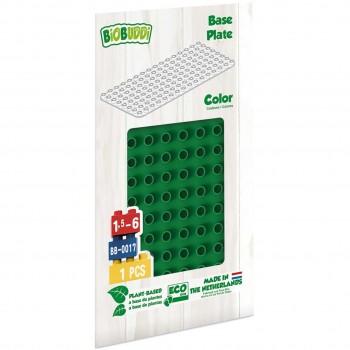 Bauplatte für Stecksteine – Basisplatte dunkelgrün 15x30 cm