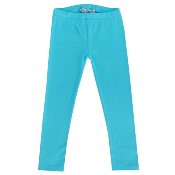 Blau-türkise Mädchen Leggings