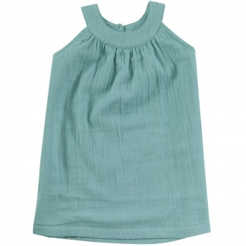 Sommerkleid Musselin türkis ohne Arm