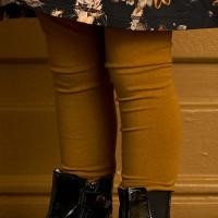 Leichte Leggings elastisch uni safran
