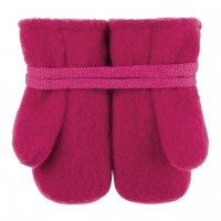 Woll Fleece Baby Fäustel Himbeere-pink