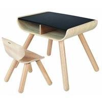 Schwarzer Tisch zum bemalen mit Stuhl bis 6 Jahre