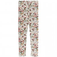 Edle Leggings elastisch Winterblumen in creme