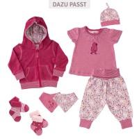 Vorschau: Babyhose Hühnerwiese rosa