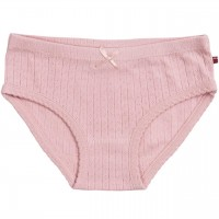 Pointelle Mädchenslip in rosa