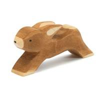 Hase laufend Holzfigur 3,5 cm hoch