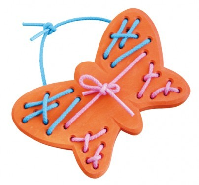 Fädel Schmetterling, natur hell