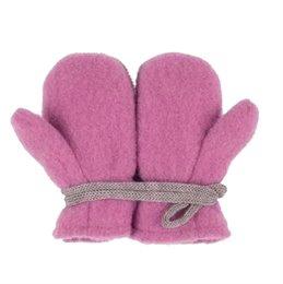 Bio Schurwolle Baby Handschuhe - beere pink