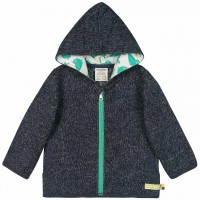 Kuschelige Strickjacke in navy