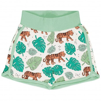 Leichte Jersey Shorts Jungle Tiger in hellgrün