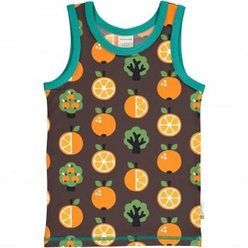 Unterhemd Orangen braun