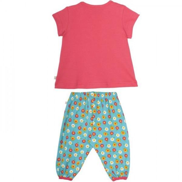 Frugi Set aus Babyshirt und langer Hose mit Hasen Motiv