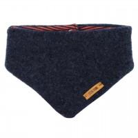 Dickes Wolle Halstuch mit Druckknopf jeans