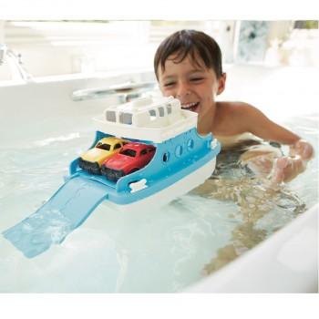 robuste Fähre mit Autos für Wasser- & Sandspiele