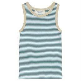 Blau gestreiftes Bio Unterhemd