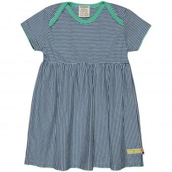 Flatter Kleid feine Streifen dunkelblau