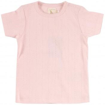 Mädchen T-Shirt Pointelle in rosa