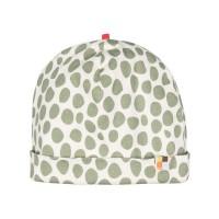 Leichte Mütze Streifen oliv-grün