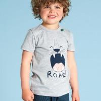 Shirt kurzarm Safari-Druck hellgrau