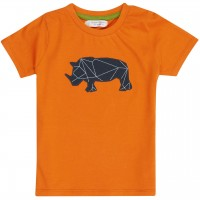 Leichtes Kurzarmshirt Nashorn orange