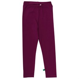 Glatte Bio Leggings bordeaux