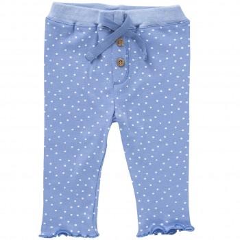 Bequeme Leggings blau Pünktchen