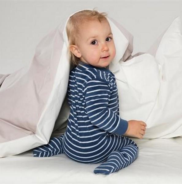 Warmer Schlafanzug Strampler aus Frottee mit Füßen