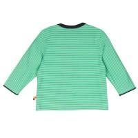 Vorschau: Loud and Proud Shirt langarm Ringel grün mit Gecko