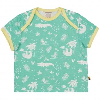 Leichtes Kurzarm Shirt Dschungel mint