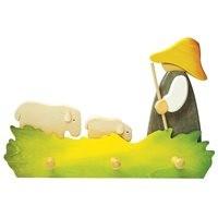 Kindergarderobe Schäfer mit Schafen 40 x 27 cm