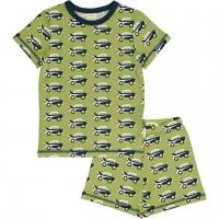 Sommer Schlafanzug Autos grün