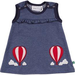 Jeans Kleid mit Druckknöpfen Ballon
