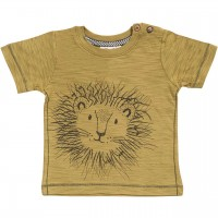Slub T-Shirt Löwe in khaki
