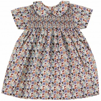 Hochwertiges Kleid mit Kragen Blumenwiese