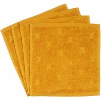 Frottee Waschlappen 4er-Pack senf