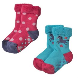 Bio Stoppersocken Frottee warm & neutral im 2er Pack