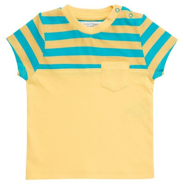 7591e7def228 Bio Jungen T-Shirt mit Brusttasche gelb   greenstories