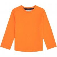 Robustes Langarmshirt uni in orange