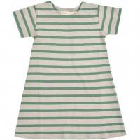 Kleid Streifen kurzarm in moos-grün