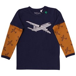 Raglan Shirt langarm Flugzeug