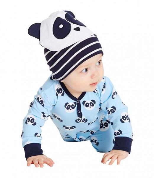 Weicher Panda Strampler neutral