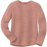 Edler Linksstrick-Pullover rosa