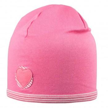 Beanie sehr leicht Jersey mit elastischem Bund rosa