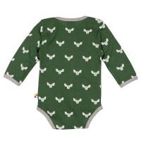 Vorschau: Wolle Baumwolle Body Fledermaus grün