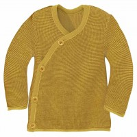 Wickeljacke Baby in curry-gold
