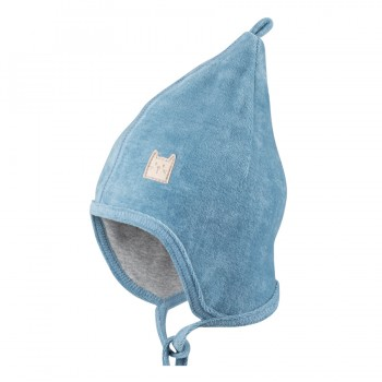 Nickimütze denim-blau - weich und warm