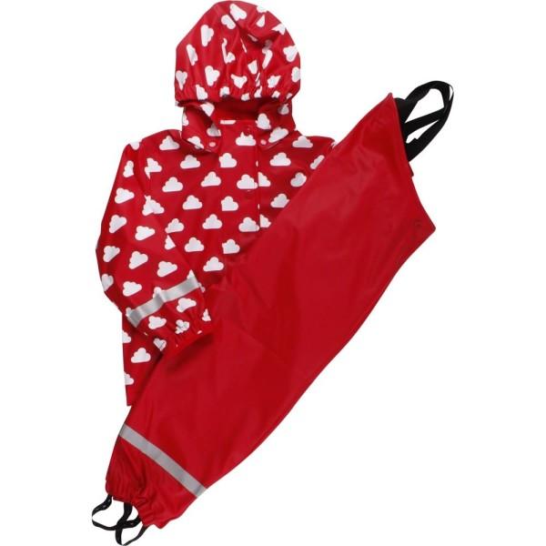 Regenbekleidung ungefüttert rot Wolke